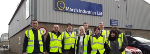 European colleagues from Scott Bader attend training day at Marsh Industries