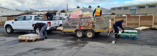 Scott Bader South Africa colleagues come together to deliver food and essential items following political protests