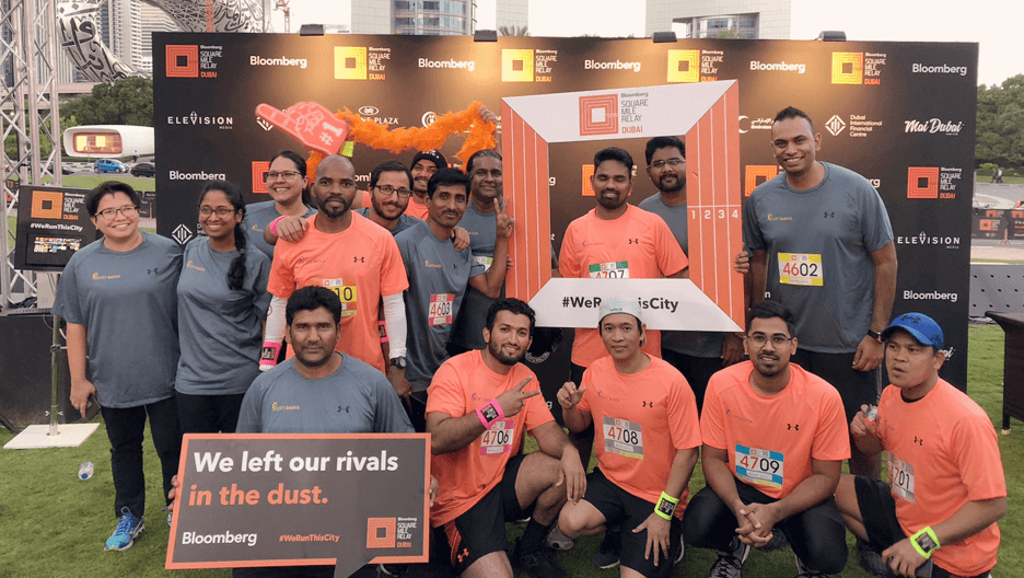 Scott Bader Middle East return to the Bloomberg Square Mile Relay to raise money for Disaster Relief