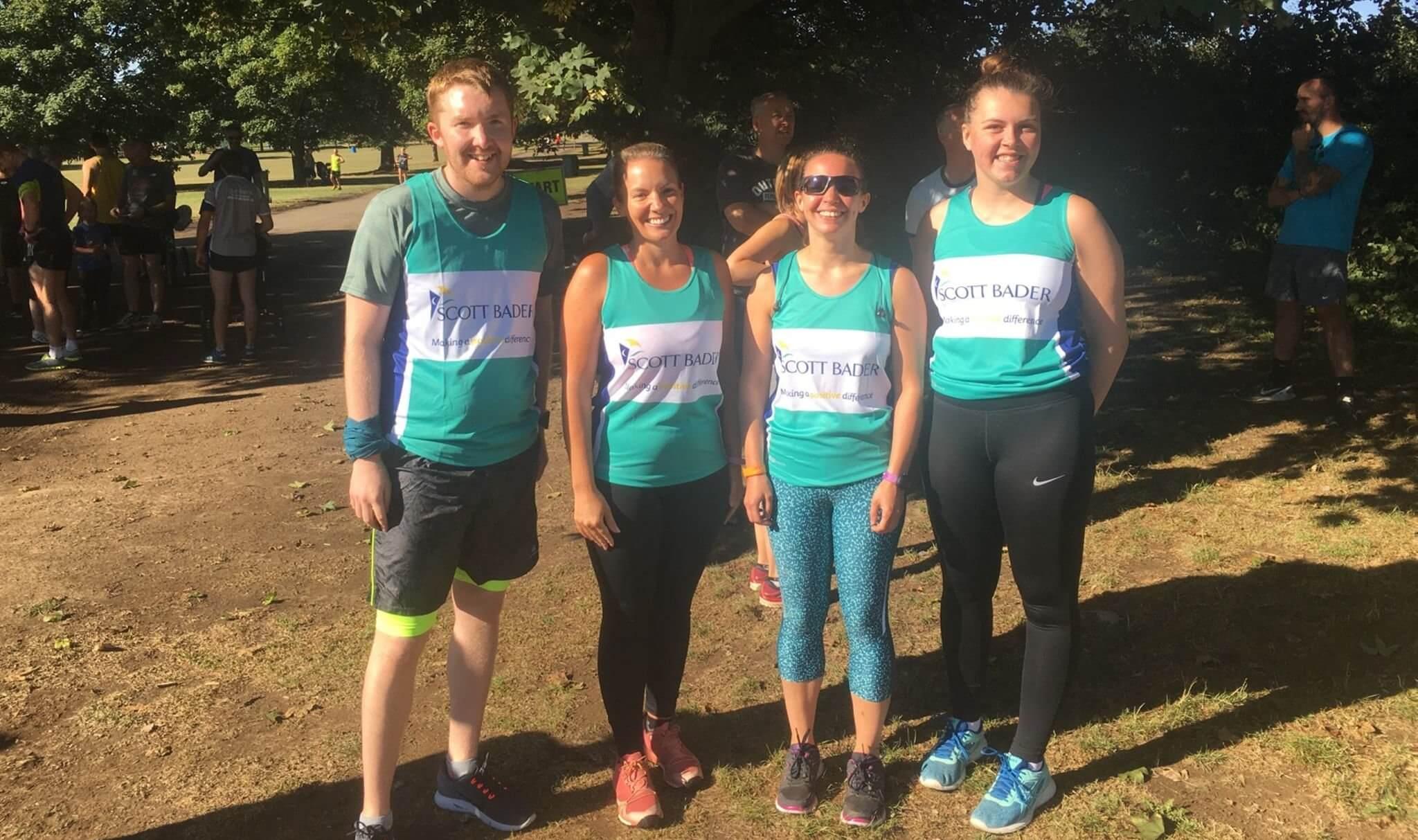 Scott Bader UK colleagues entering the Great Birmingham Run