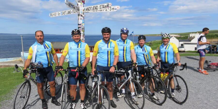 Scott Bader Lands' End to John O'Groats cycle ride raises over £10,000 for Kettering General Hospital!