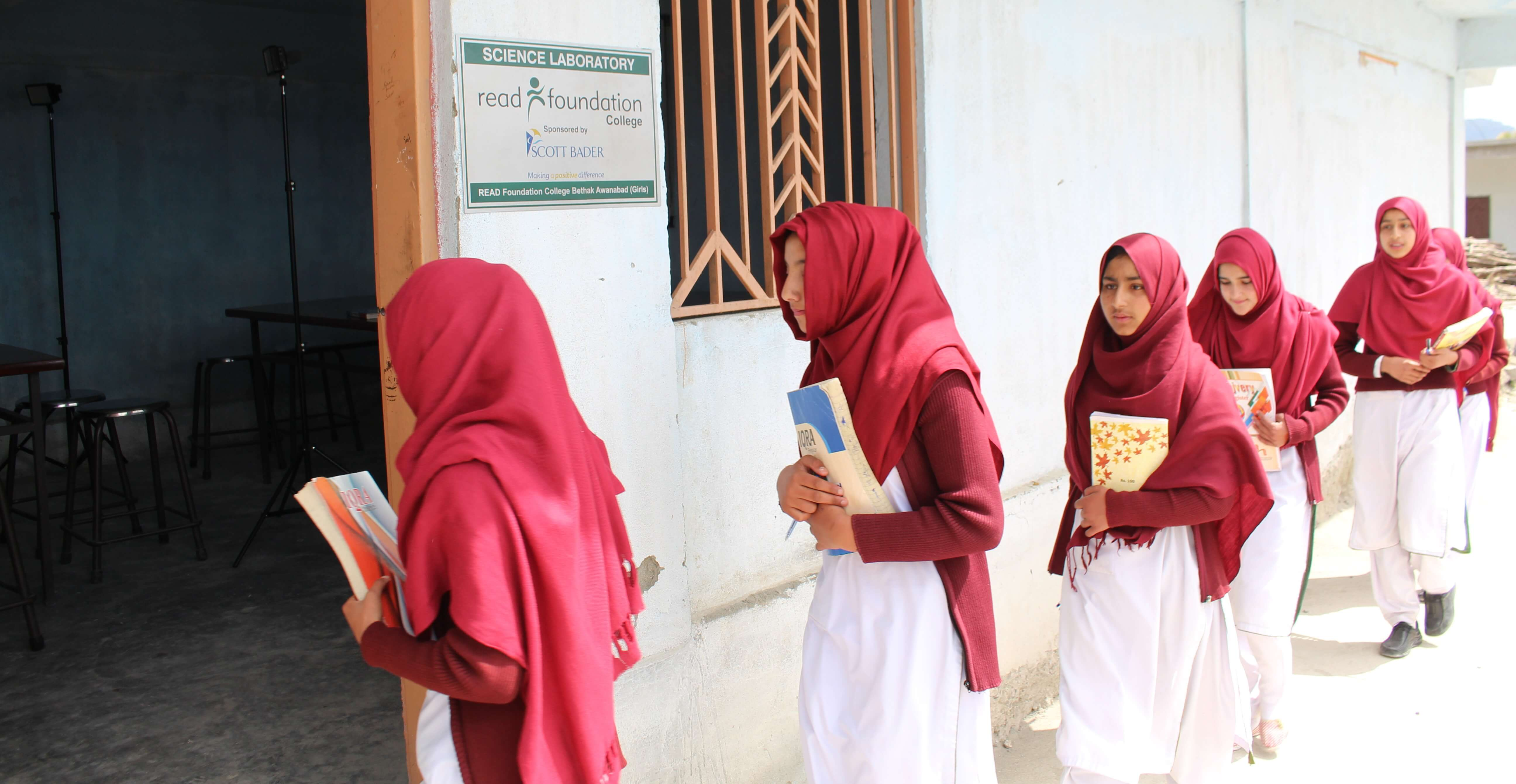 Scott Bader Commonwealth sponsors female student science laboratory in rural Pakistan