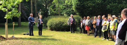 Scott Bader plant an oak tree to mark their journey towards a sustainable future