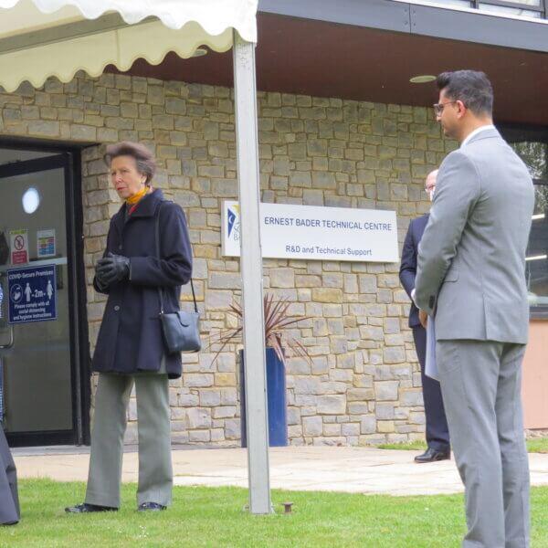 The Princess Royal visits Scott Bader to mark their Centenary celebrations