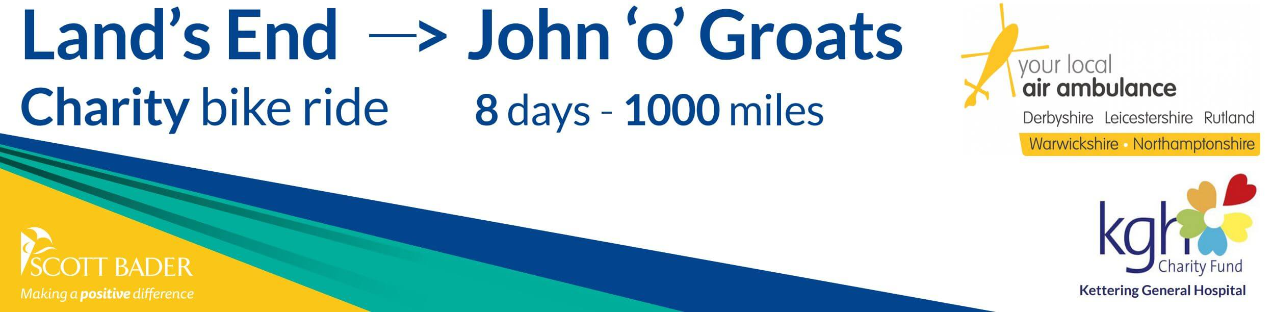 Scott Bader UK team cycling from Land's End to John O Groats for Charity