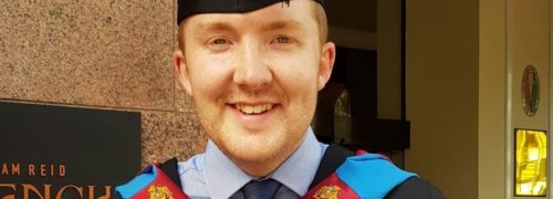 Congratulations Richard on your First Class Honours Degree!