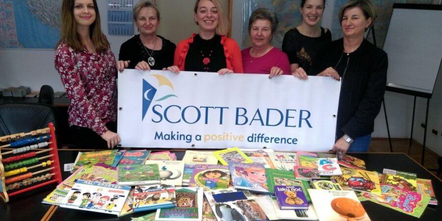 Scott Bader Croatia Collect Books for Children