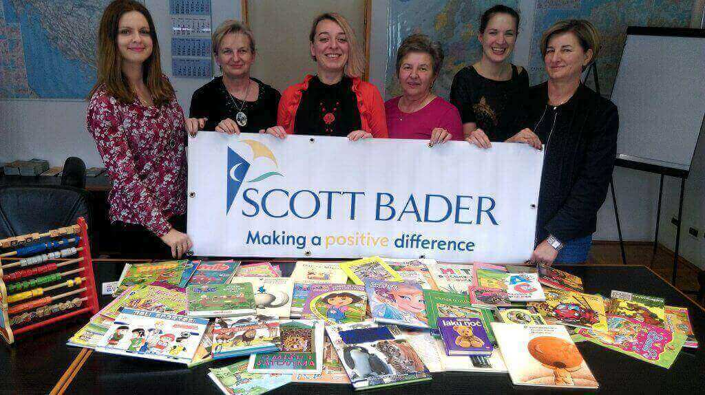 Scott Bader Croatia Collect Books for Children