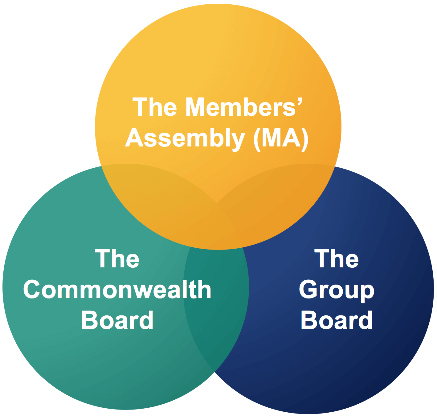An image showing our governance structure