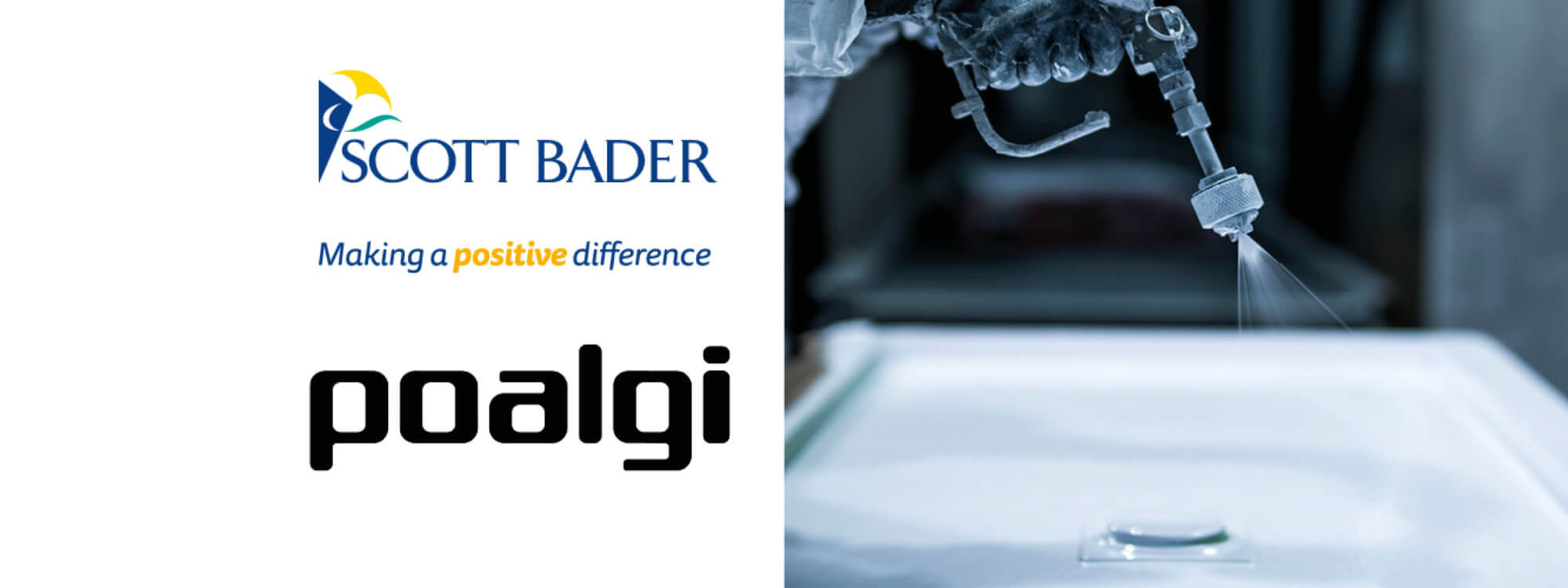 Poalgi finish their entire range of kitchen and bathroom products with Scott Bader's Crystic<sup>®</sup> Gelcoat