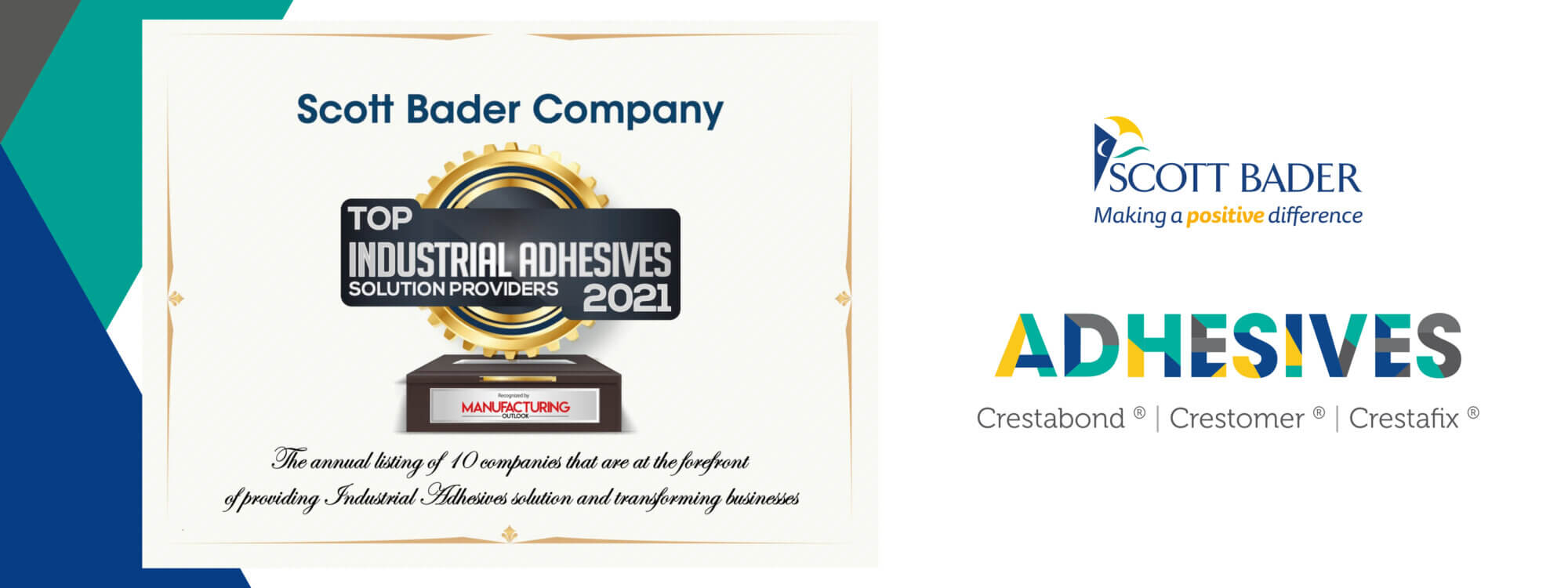 Scott Bader named a Top 10 Industrial Adhesives Solutions Provider